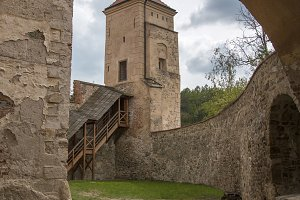 Arcade castle overlooking the Tower