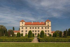 Castle garden Bucovice