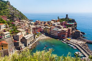 Vernazza town view in Cinque Terre