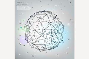 Polygon Molecule Background