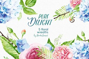 Pure Delight - 5 Floral Wreaths