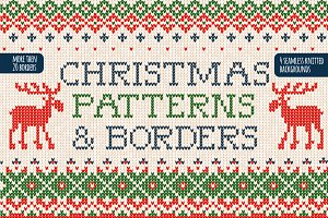 20 Christmas BORDERS & patterns.