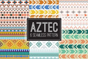 Aztec tribal color seamless pattern