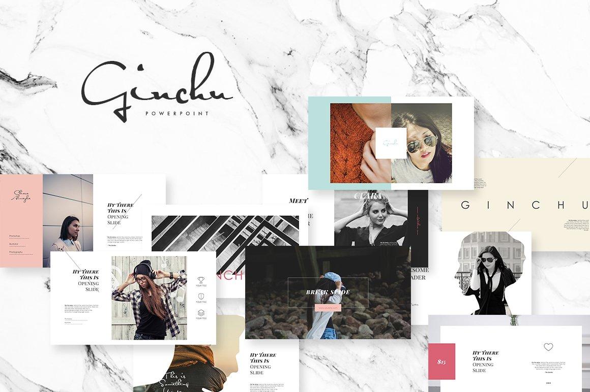 ginchu powerpoint template presentation templates creative market