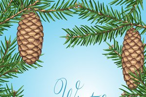 Backgrounds with fir cones.
