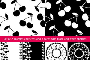 2 seamless pattern and 4 cards