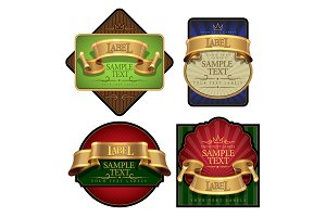 Elegant wine Labels