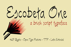 Escobeta One -Brush font-