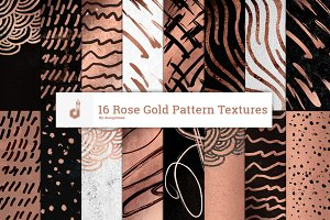 16 Rose Gold Pattern Textures