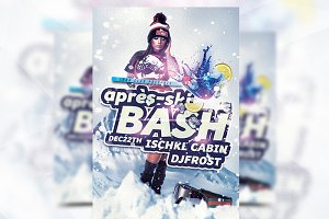 Apres-Ski Bash Party Flyer Template