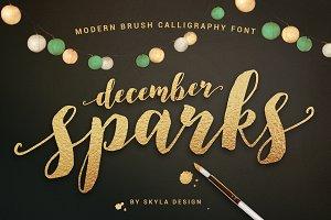 Modern calligraphy, December Sparks