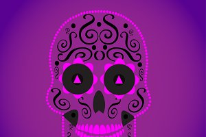 Skull vector pink color