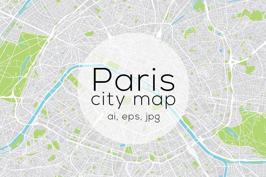 Paris city map ~ Illustrations ~ Creative Market