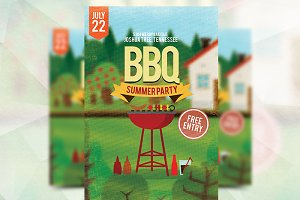 BBQ Summerparty - Flyer Template