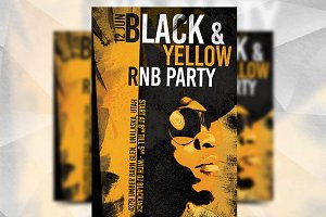 Black & Yellow RNB Party Template