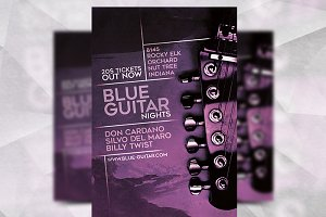 Blue Guitar - Flyer Template
