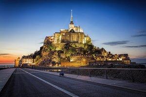 Mont Saint Michel at Dusk