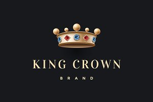 Logo with gold king crown
