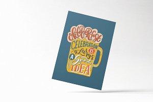 Oktoberfest Typography Card
