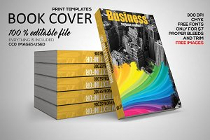 Business Book Cover Print Template