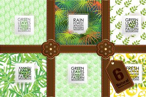 6 seamless pattern Natural set