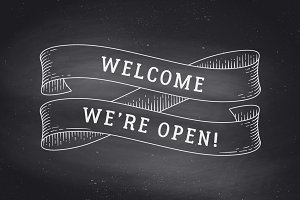 Welcome we are open. Old ribbon