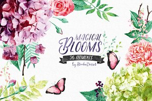 Magical Blooms - Watercolor Flowers