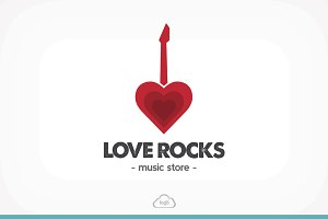 [50% OFF] Love Rocks Logo Template