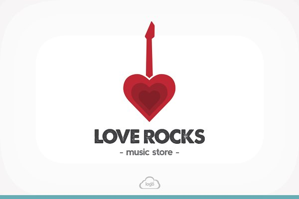 [50% OFF] Love Rocks Logo Template