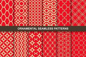 Luxury ornamental seamless patterns.