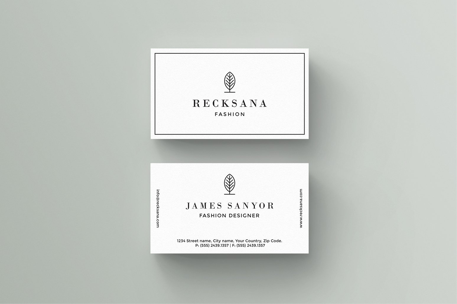 J U N I P E R Business Card Template Business Card Templates - Business card template with photo