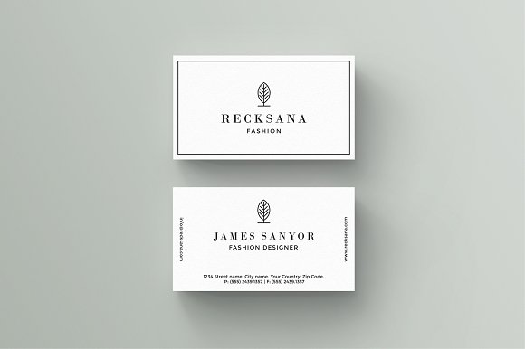 Recksana Business Card Template Business Card Templates - Template of business card
