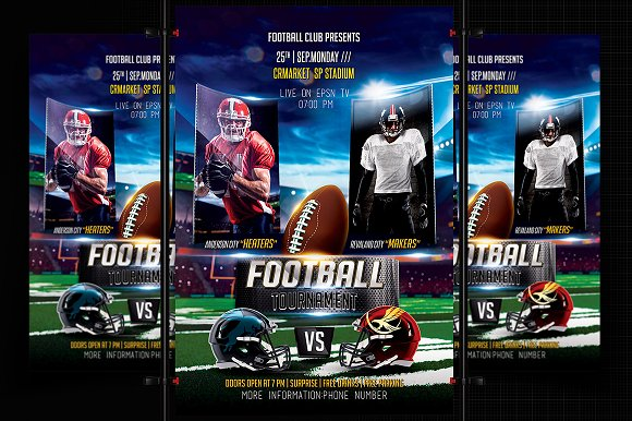 Football Flyer Template-Graphicriver中文最全的素材分享平台