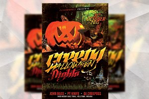 Creepy Halloween - Flyer Template