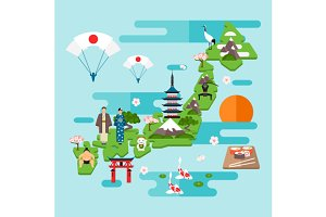 Infographics about Japan