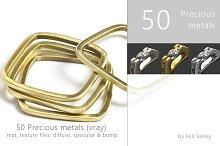 50 precious metals for 3D designs by  in Metal