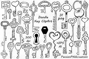 Doodle key Clipart