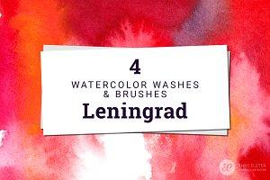 4 Watercolor Washes - Leningrad