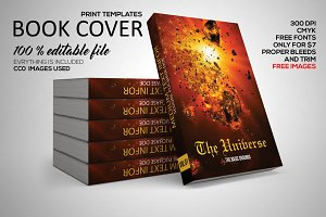Universe Book Cover Print Template