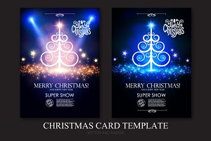 Christmas Cards Set. Eps10,Ai,Jpg