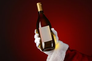 Santa Holding Chardonnay Wine Bottle