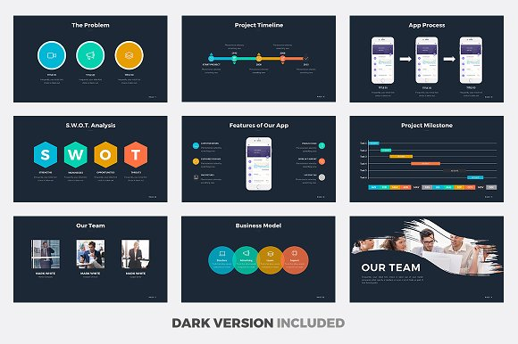 Aura powerpoint template presentation templates creative market toneelgroepblik Images