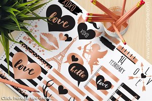 Valentine's Day Rose Gold Clipart