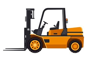 Yellow Forklift Loader Truck