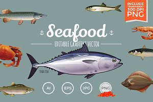 Seafood Vector Pack