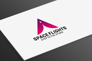 Space Flights Logo Template