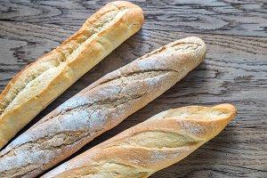 Three baguettes