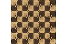 Chocolate brown pattern. Vector