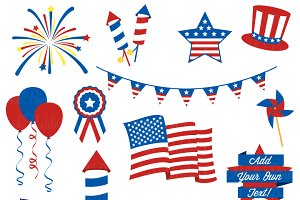 Fourth of July Clipart and Vectors