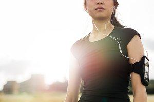 Chinese woman in sportswear
